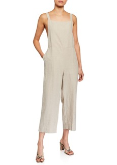 Eileen Fisher Sleeveless Organic Linen Crop Jumpsuit