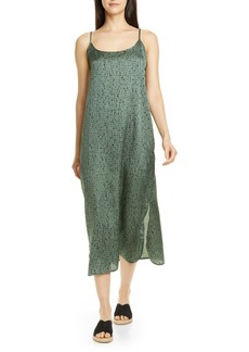 Eileen Fisher Sleeveless Silk & Organic Cotton Maxi Dress