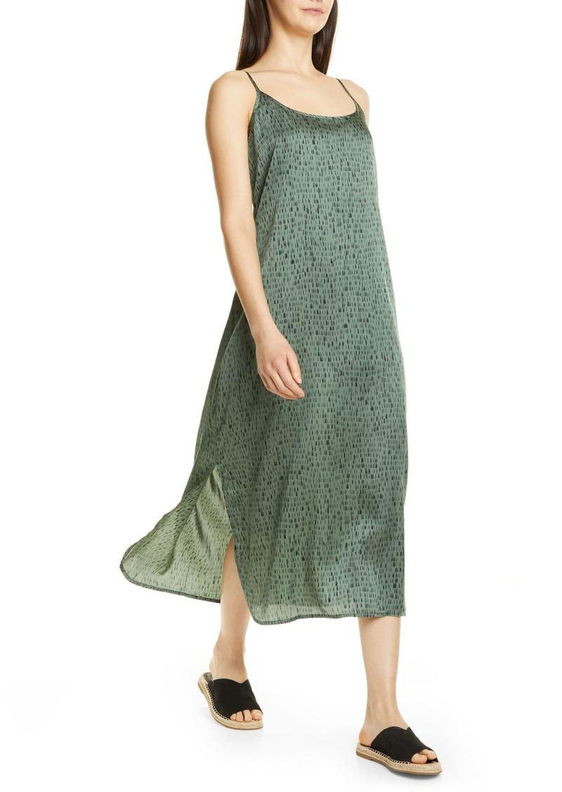 Eileen Fisher Sleeveless Silk & Organic Cotton Maxi Dress