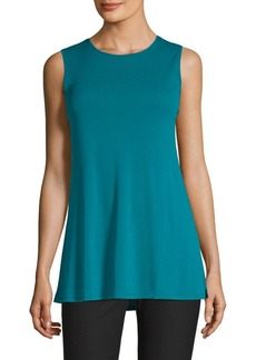 Eileen Fisher Sleeveless Silk Knit Shell