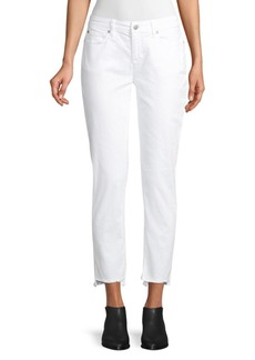 Eileen Fisher Slim Ankle Raw-Edge Jeans