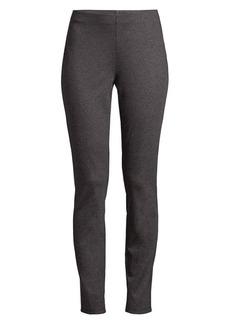 Eileen Fisher Slim-Fit Ankle Melange Tencel Ponte Pants