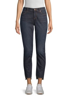 Eileen Fisher Slim-Fit Ankle Raw Edge Slit Jeans