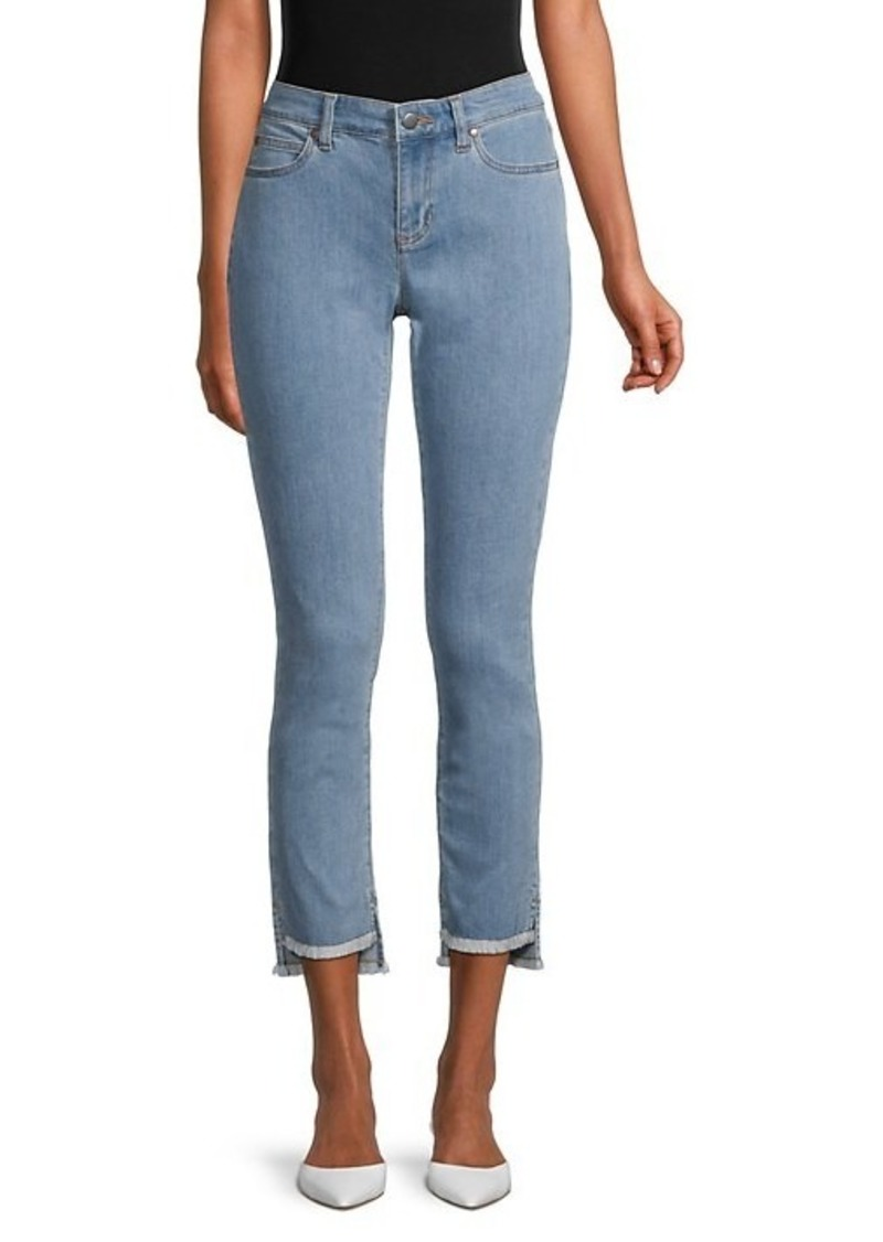 Eileen Fisher Slim-Fit Step-Hem Ankle Jeans