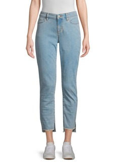 Eileen Fisher Slim Raw Step-Hem Ankle Jeans