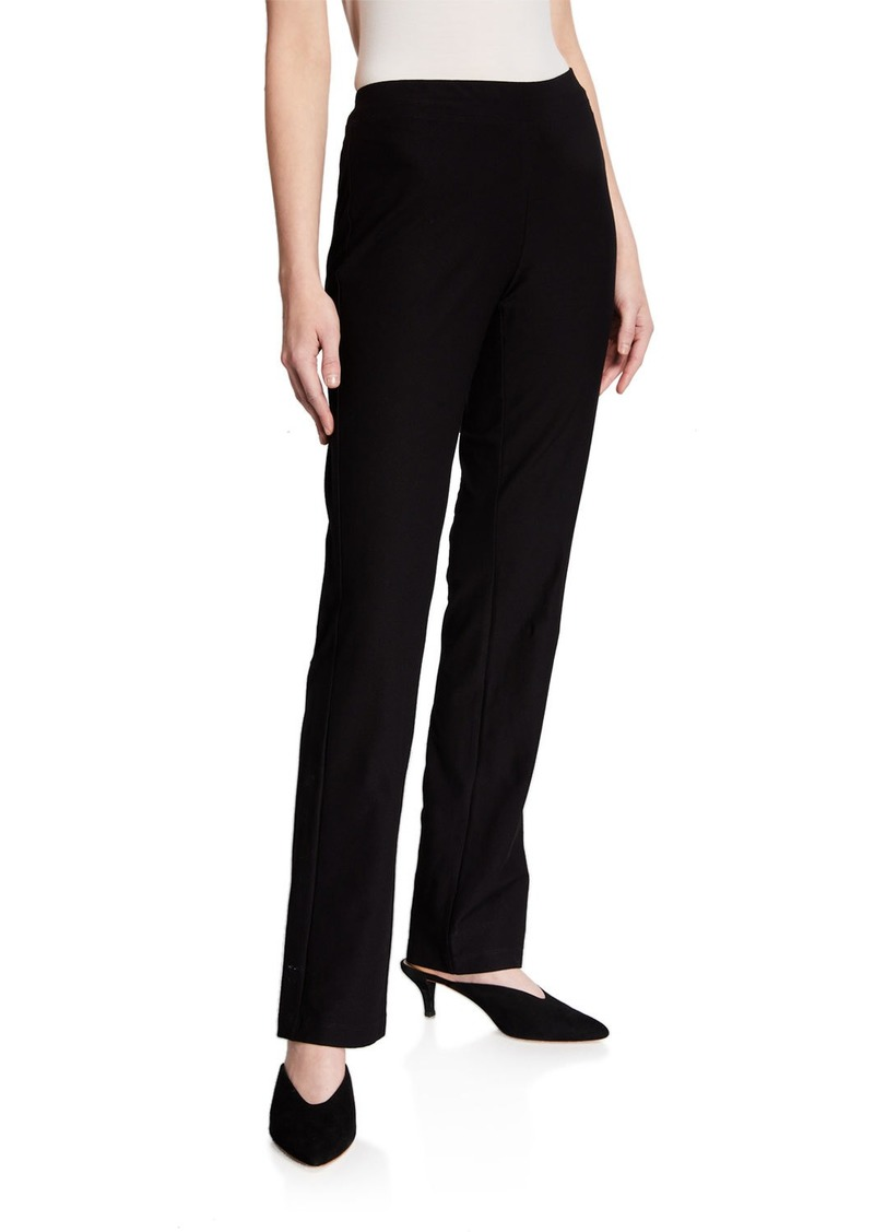Eileen Fisher Slim Stretch Crepe Boot Cut Pants