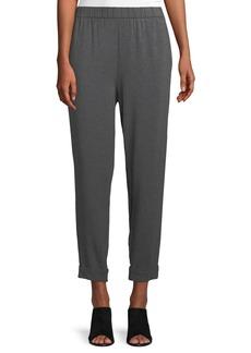 Eileen Fisher Slouchy Cropped Tencel Jersey Pants
