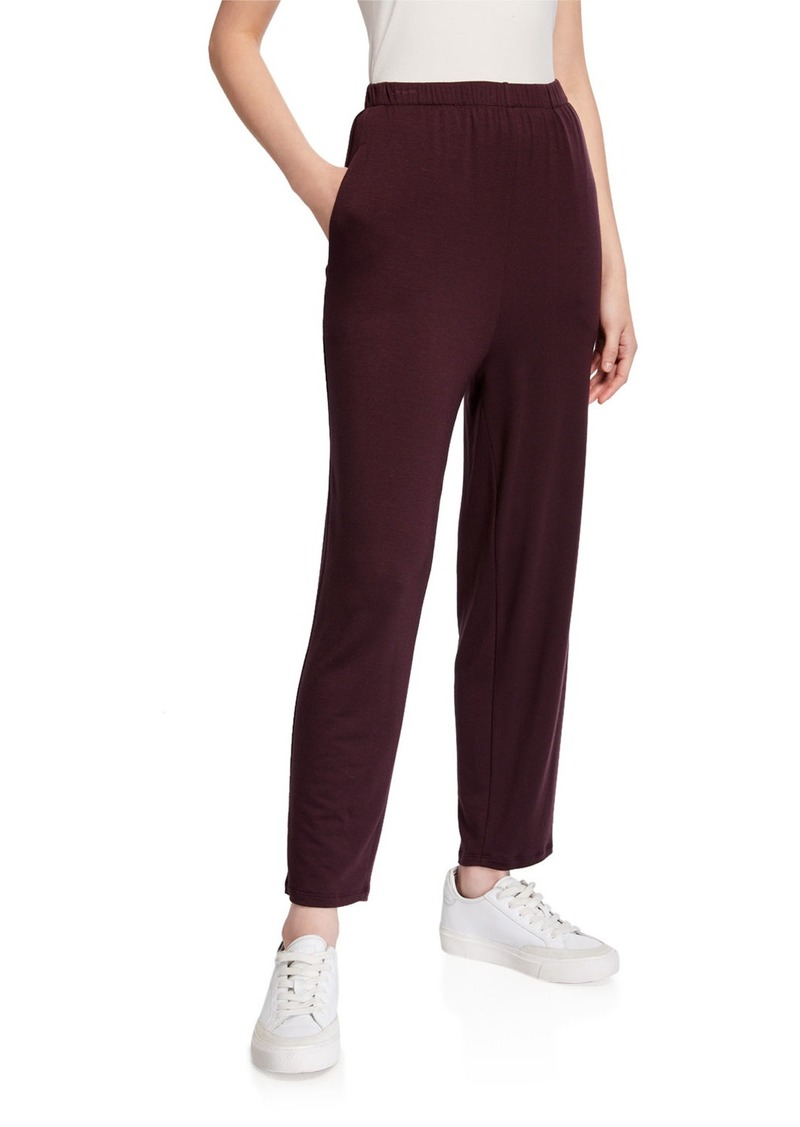 Eileen Fisher Slouchy Jersey Ankle Pants w/ Pockets