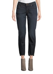 Eileen Fisher Soft Denim Raw-Edge Ankle Jeans