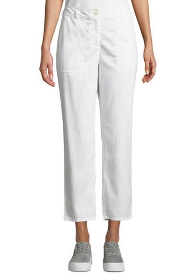 Eileen Fisher Soft Organic Twill Cropped Taper Pants