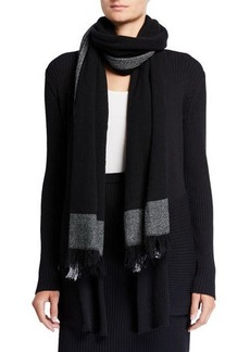 Eileen Fisher Soft Wool Blocks Scarf