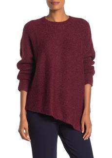 Eileen Fisher Solid Asymmetrical Hem Sweater