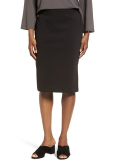 Eileen Fisher Solid Pencil Skirt