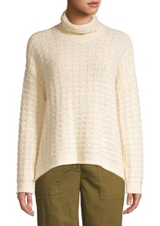 Eileen Fisher Speciality Stitch Waffle Knit Sweater