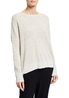 Eileen Fisher Speckle Crewneck Organic Cotton Sweater