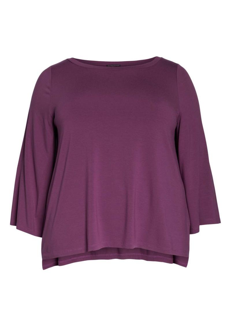 Eileen Fisher Split Sleeve Top (Regular & Plus Size)