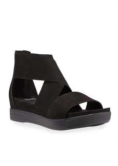 Eileen Fisher Sport Nubuck Platform Sandals