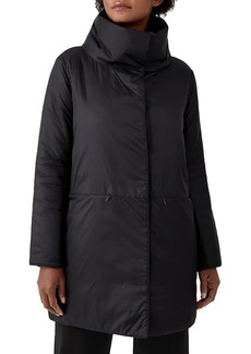 Eileen Fisher Stand Collar Cocoon Coat