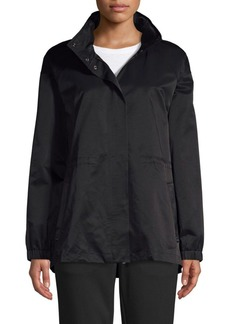 Eileen Fisher Stand Collar Organic Cotton-Blend Jacket