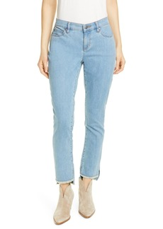 Eileen Fisher Step Hem Ankle Skinny Jeans