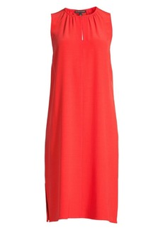 Eileen Fisher Straight-Fit Front Pleated Sleeveless Dress