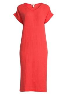 Eileen Fisher Straight-Fit Organic Cotton Gauze Dress