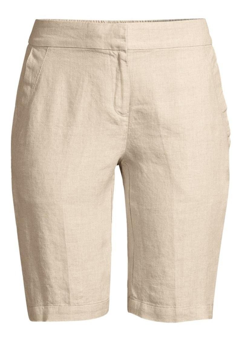 Eileen Fisher Straight-Leg Organic Linen Bermuda Shorts