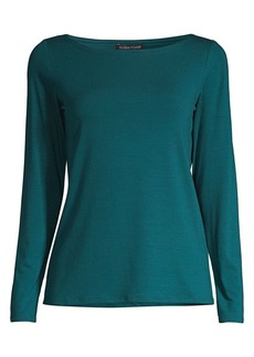 Eileen Fisher Stretch Boatneck Top