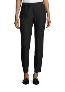 Eileen Fisher Stretch Crepe Back-Zip Pants