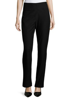 Eileen Fisher Stretch Crepe Boot-Cut Pants  Black