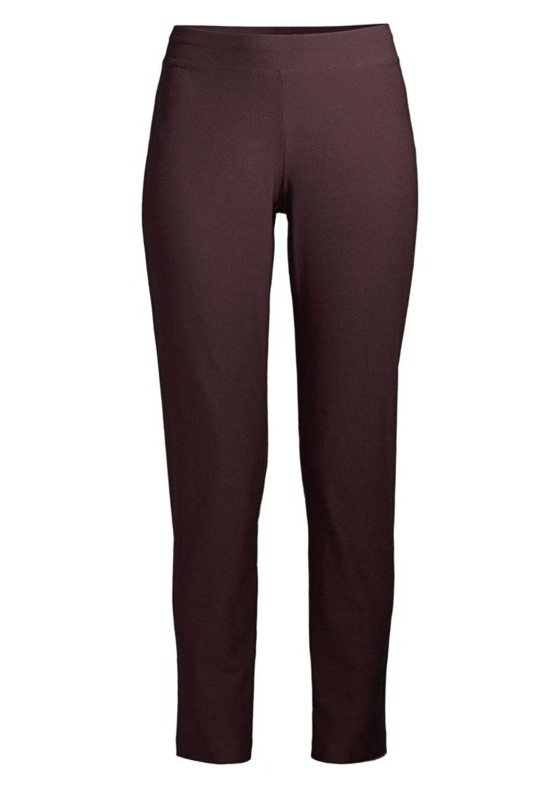 Eileen Fisher Stretch Crepe Crop Trousers