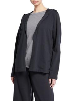 Eileen Fisher Stretch Jersey Hooded Jacket