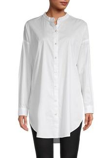 Eileen Fisher Stretch Organic-Cotton Longline Shirt