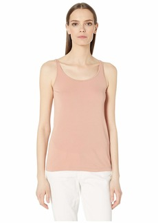 Eileen Fisher Stretch Silk Jersey Scoop Neck Long Cami