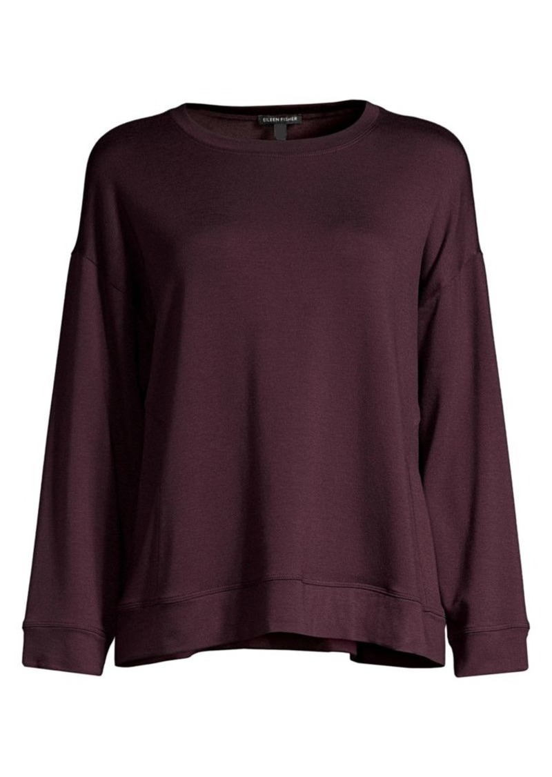 Eileen Fisher Stretch Terry Drop-Shoulder Sweater