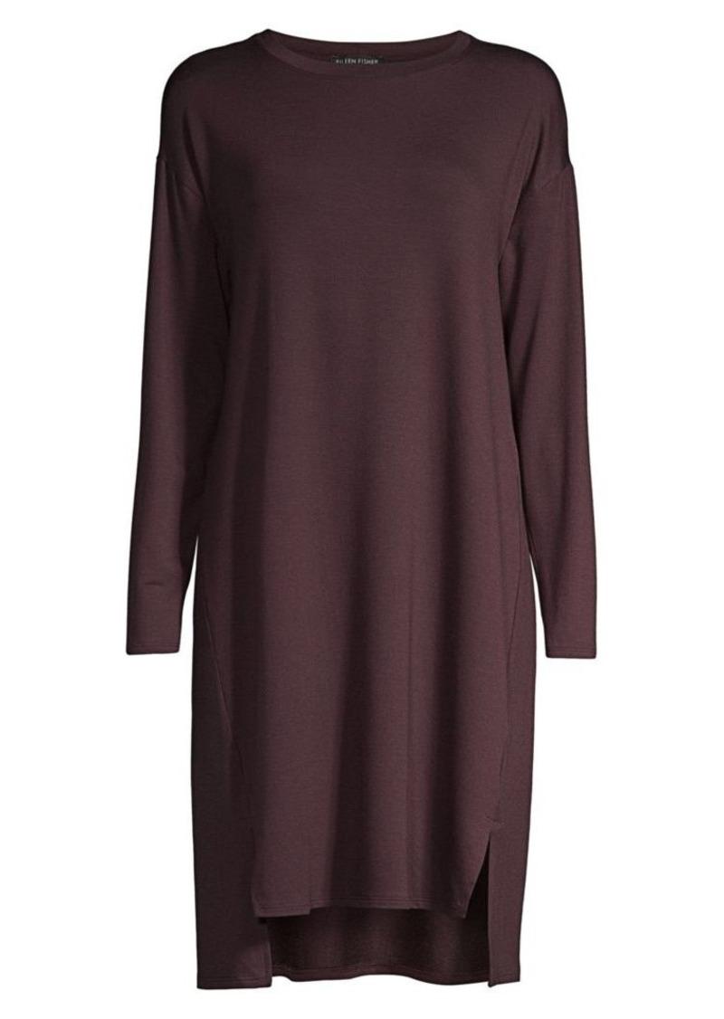 Eileen Fisher Stretch Terry Midi Sweatshirt Dress