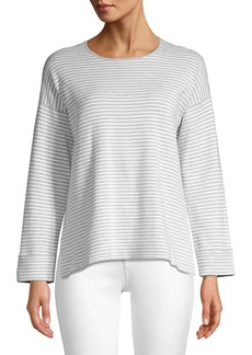 Eileen Fisher Stripe Drop Shoulder Top