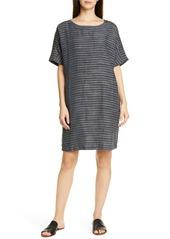 Eileen Fisher Stripe Linen Tunic Dress