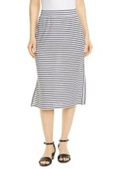 Eileen Fisher Stripe Organic Linen Knit Skirt