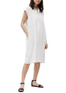 Eileen Fisher Stripe Silk Shirt Dress