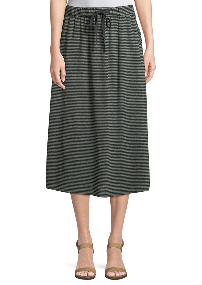 8e8e81f461 Eileen Fisher Striped Organic Linen Jersey Midi Skirt   Skirts
