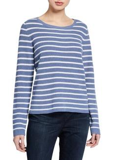Eileen Fisher Striped Scoop-Neck Sweater