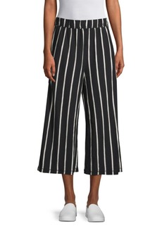 Eileen Fisher Striped Wide Leg Capri Pants