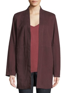 Eileen Fisher Suede Kimono Jacket  Plus Size