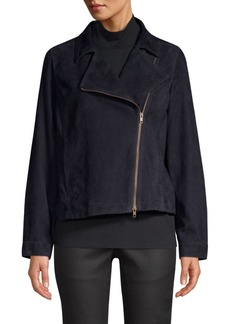 Eileen Fisher Suede Moto Jacket