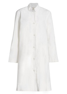 Eileen Fisher Swing Button-Up Longline Jacket
