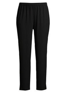Eileen Fisher Tapered Silk Pants