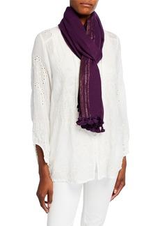 Eileen Fisher Tasseled Wool Shimmer Scarf