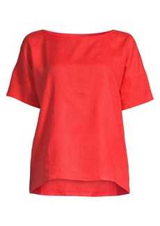 Eileen Fisher Tencel Boxy Top