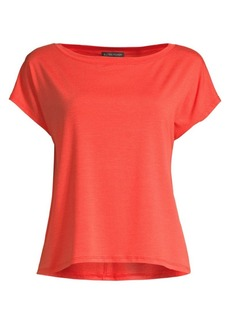 Eileen Fisher Tencel Jersey Cropped Top